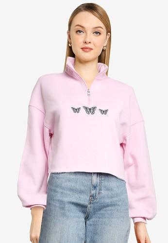 Hollister pink Trend Sweatshirt 8DE06AAA9306DBGS_1
