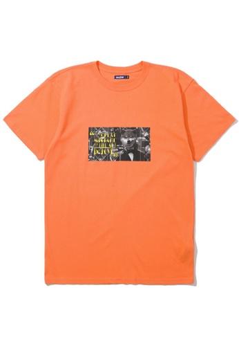 BLOCKAIT orange Akita Ken photo tee 64C8EAAF0B4DF2GS_1