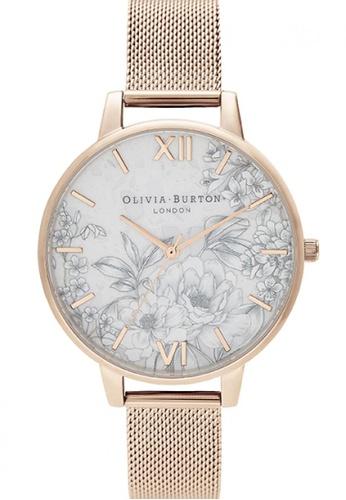 Olivia Burton gold Olivia Burton Terrazzo Florals ROSE GOLD MESH Women's Watch (OB16TZ04) 00F21ACA6F2639GS_1