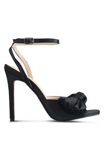 Public Desire black Eros Bow Detail Square Heels 8EB99SHDB1EEC9GS_1