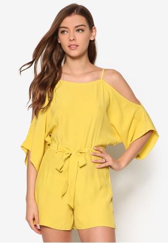 Chartreuse 挖肩七分寬袖連身esprit 旺角褲, 服飾, 連身褲