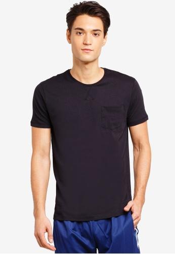 Brave Soul 黑色 胸前口袋圓領T恤 271D6AA6D5F600GS_1
