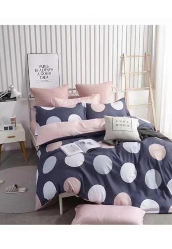 Bedding Day Bedding Day - Soft Microfiber Print 700TC Fitted Sheet Set - Polka Dot DE092HL58E8C93GS_1