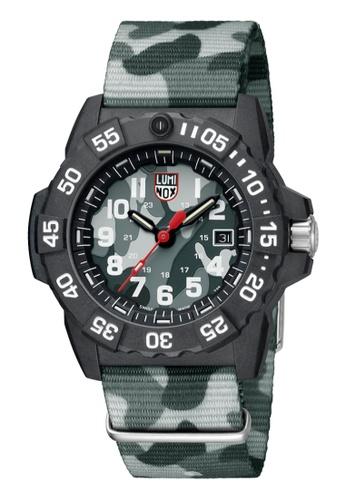 LUMINOX multi Luminox Navy Seal LM3507.PH Black and Grey Camo Webbing Watch 3C25CACC0F735EGS_1