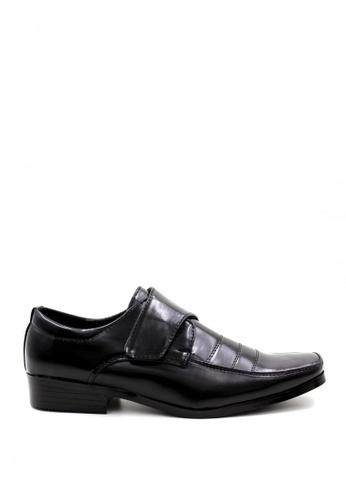 London Fashion black Leather Shoes 227-4 LO229SH66NZXPH_1