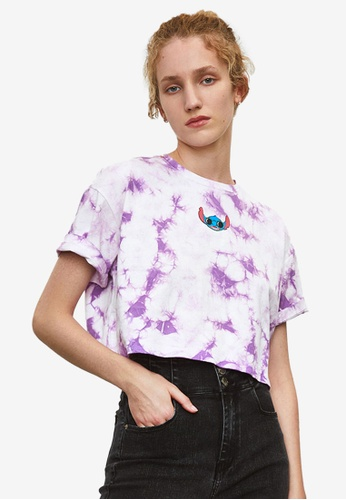 URBAN REVIVO purple Casual T-Shirt 21C47AA0112090GS_1