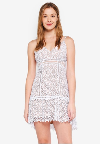 Guess white Forbidden Floral Lace Mini Dress C328DAA39D2743GS_1