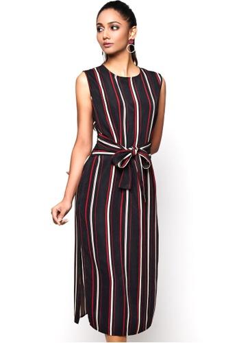 Nichii red Front Tie Dress 9C260AA3FBA2DEGS_1