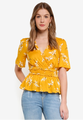 River Island yellow Tessa Tea Top C9463AAE4A96DCGS_1