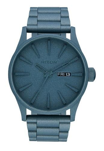 NIXON Sentry SS All Blue Cerakote Jam Tangan Pria A3562337 - Stainless Steel - Blue