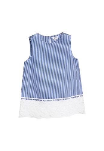 OVS blue Sleeveless Lace Blouse 86CB4KA694DB53GS_1