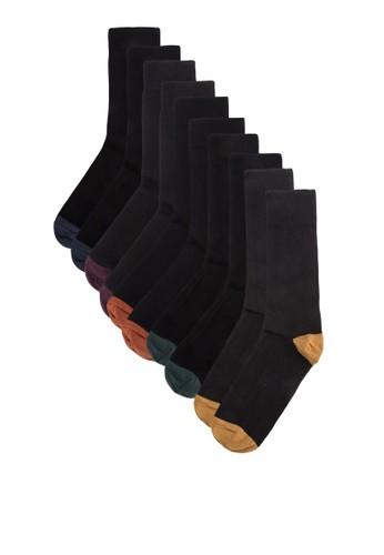 五入撞色esprit門市襪子, 服飾, 服飾