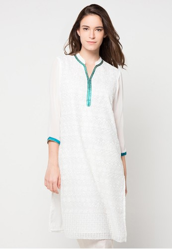 Chanira Festive Collection white Rafiah Embroidered Tunic CH354AA68BIHID_1