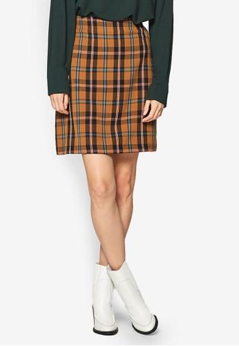 ESPRIT brown Woven Mini Skirt E974DAA5F135FFGS_1
