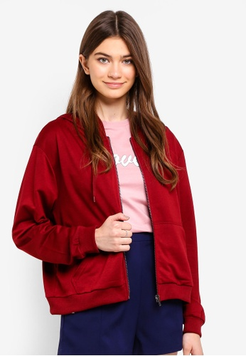 Something Borrowed red Hoodie With Zip 6D576AA5B9A191GS_1
