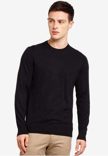 Burton Menswear London 黑色 圓領上衣 F4F0EAAFD52FD9GS_1