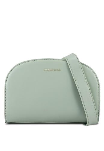 Milliot & Co. green Willow Sling Bag 19E02AC373D775GS_1