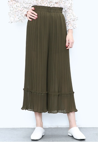 Buy A In Girls Pleated Chiffon Wide Leg Pants With Lining Zalora Hk