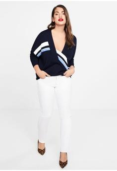 30d3eadb8fc Violeta by MANGO Plus Size Contrasting Stripes Sweater RM 208.90