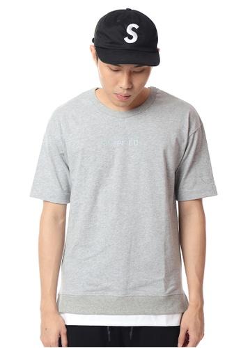 Praise grey Short Sleeve T-shirt PR067AA0FG1WSG_1