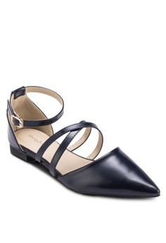 Criss Cross Pointed D'Orsay Flats