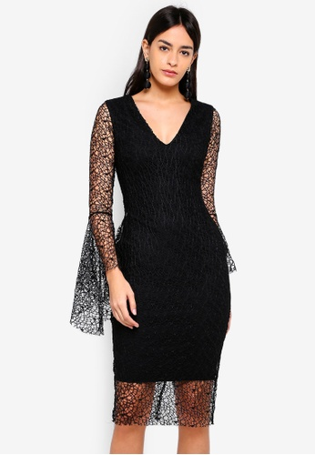 b5fa5d64b5d Buy Vesper Frankie Midi Dress With Long Sleeves Online on ZALORA ...
