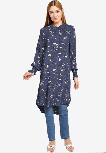 JACQUELINE DE YONG blue Peak Long Sleeve Long Shirt A4BACAA8F3087AGS_1