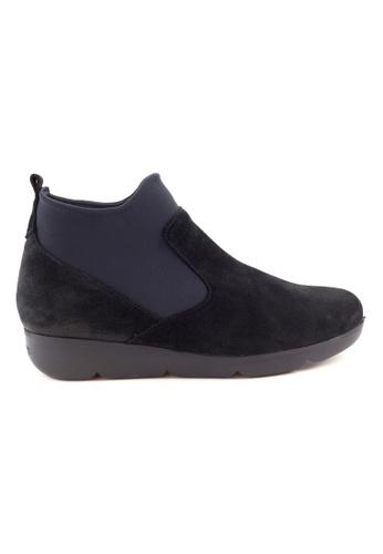 Shu Talk 黑色 輕盈舒適真皮女短靴 SH544SH09MSNTW_1