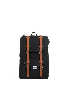 6328abbeec7 Herschel black Herschel Little America Mid-Volume Core Backpack - 17L  CFF22ACBAC7804GS 1
