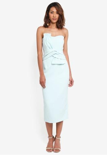 Lavish Alice green Bow Front Bandeau Midi Dress LA457AA0SSQ9MY_1
