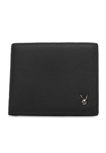 Playboy black Genuine Leather Rfid Short Wallet F578FAC937C1E4GS_1