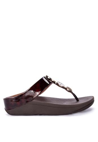 7ff53f36f Shop Fitflop Halo Tortoiseshell Toe Post Sandals Online on ZALORA  Philippines
