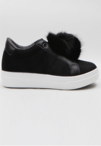 Crystal Korea Fashion black Korean Winter New High Insoles Slip-Ons A630DSH50C8279GS_1