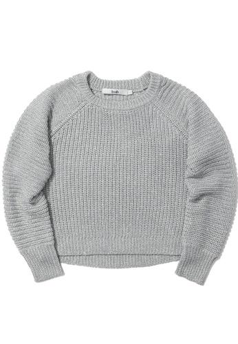b+ab silver Intarsia knit sweater 469A1AAD40058DGS_1