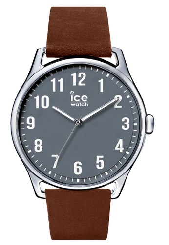 Ice-Watch brown Ice-Watch ICE time - Caramel Anthracite (Large) 9CA01AC4A43055GS_1