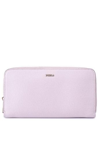 Furla pink Babylon XL Zip Around Wallet 00868AC3F7170EGS_1