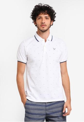REGATTA white Polo Shirt With All-Over Print AF88FAA4556B6DGS_1
