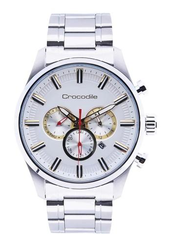 Crocodile Timepiece silver Jam Tangan Pria Analog Sports Chrono Strap Metal CM-007A11A 9990BACC08C6B0GS_1