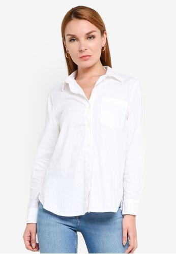 H&M white Cotton Shirt BDFFBAAFDA8867GS_1