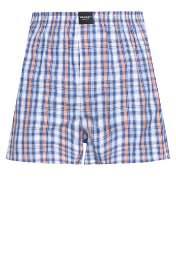 Walker Underwear orange Checkered Shorts C4825USDE6B91EGS_1