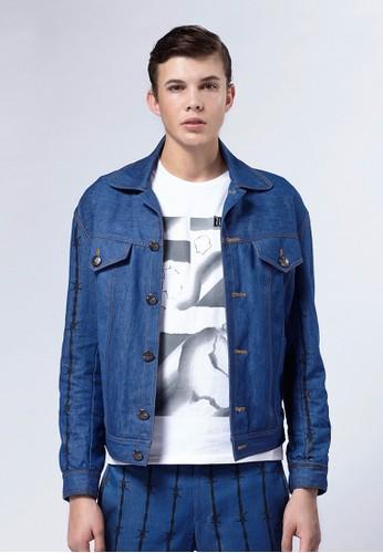 Life8 x Daniel Wong。荊棘經esprit outlet 台中典牛仔外套-03671-水洗藍, 服飾, 外套
