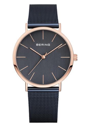Bering gold Classic 13436-367 Blue 36 mm Unisex Watch 54E1DACBE6EFE4GS_1