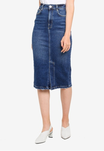 0c20a8c2688b99 Buy River Island Tyra Midi Denim Skirt Online on ZALORA Singapore