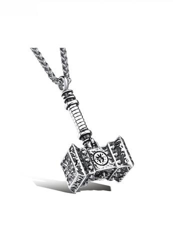 HAPPY FRIDAYS Vintage Punk Hammer Pendant Necklace JW OK-1101 522AFAC166ED48GS_1