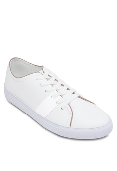 Xm- Stripped Detailed Faux Leather Sneaker