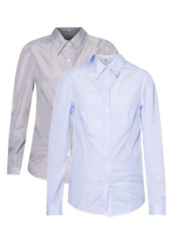 Iriszalora 手錶 二入組長袖襯衫, 服飾, 襯衫