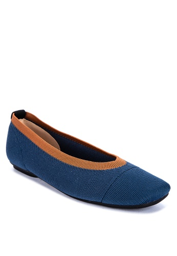 ABOUT A GIRL blue Two-tone Ballet Flats 912A6SHE2B276BGS_1