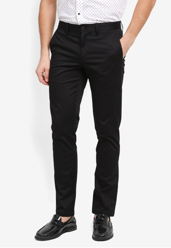 G2000 black Flat Front Informal Slim Pants C867EAA12DECFAGS_1