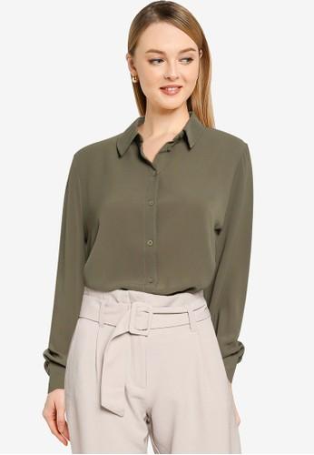 JACQUELINE DE YONG green Maddie Long Sleeves Woven Shirt F92E1AA976CD2AGS_1