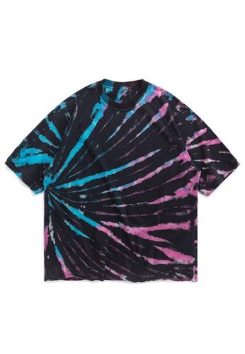 Twenty Eight Shoes Irregular Spiral Tied-Dye Short T-shirt  1176S20 5B9C2AAC905B52GS_1